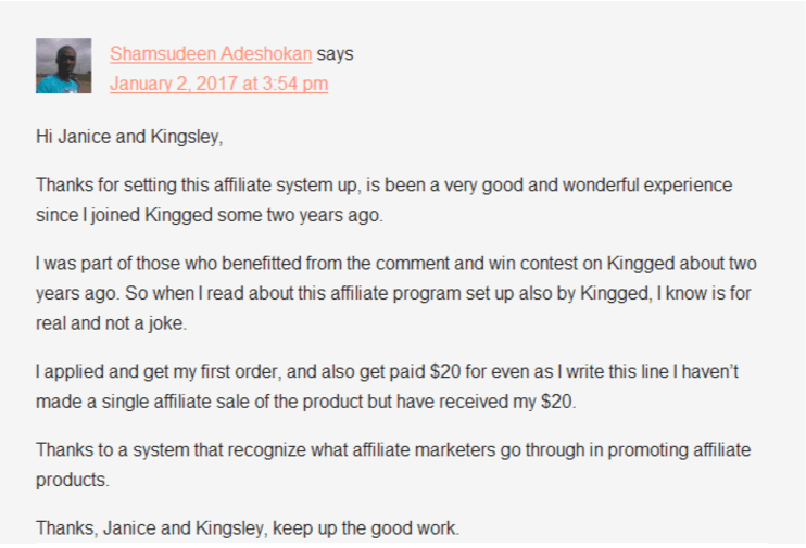 #Bloggers are getting paid money with Kingged's affiliate sales