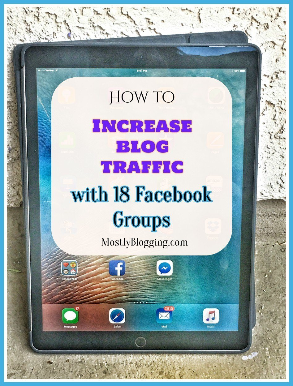 Facebook groups help #Bloggers get #BlogTraffic