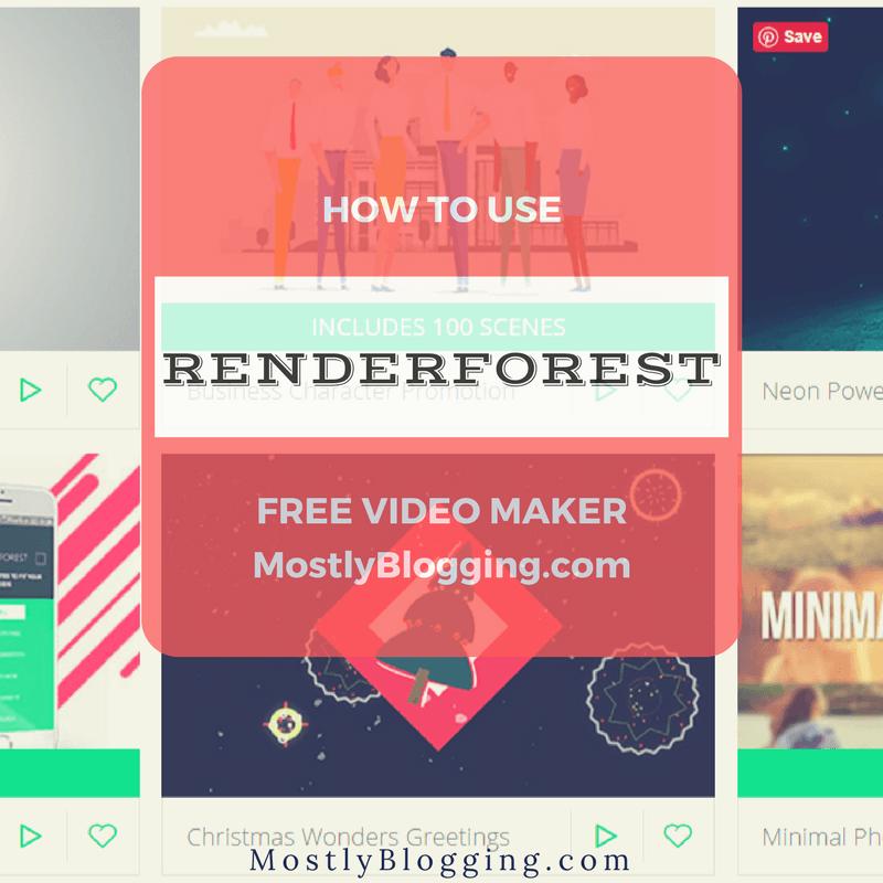 Renderforest free online video maker