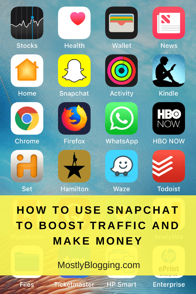 snapchat online or on your phone equals blogging success