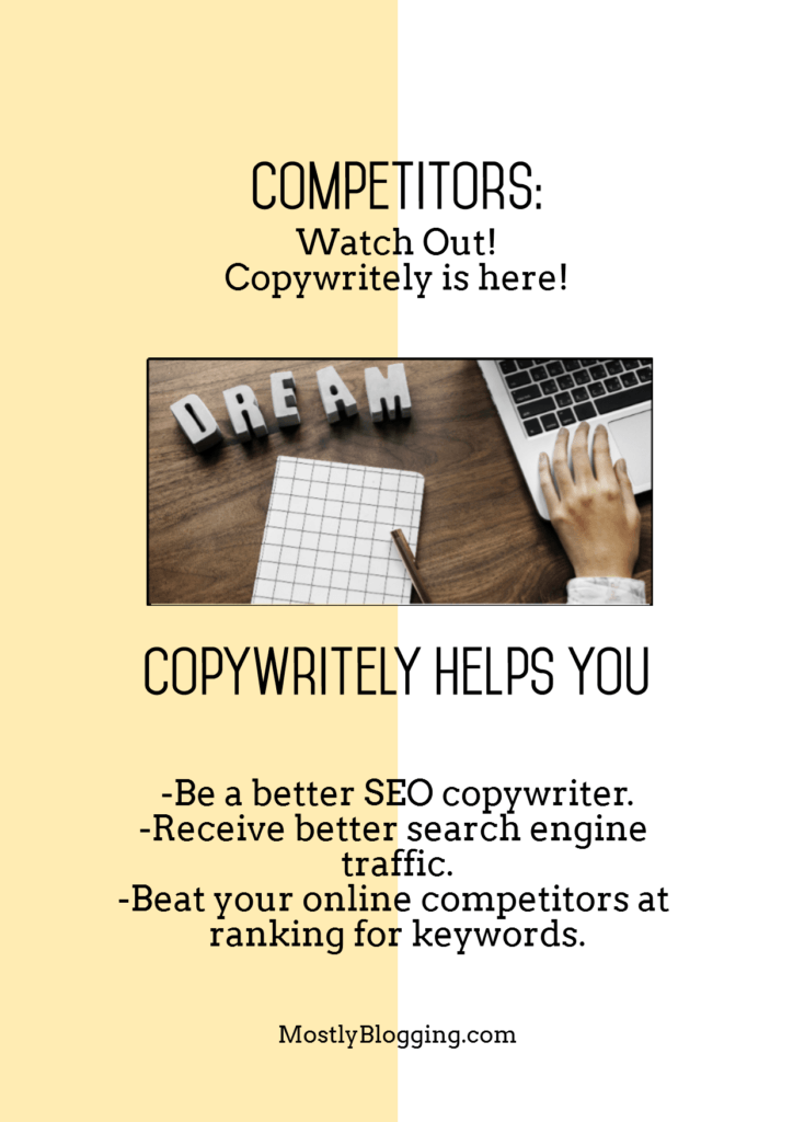 Copywritely helps you rank on Google..