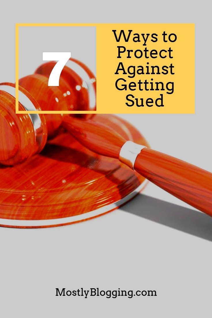 How to avoid getting sued, 7 tips