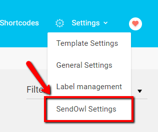 sendowl settings